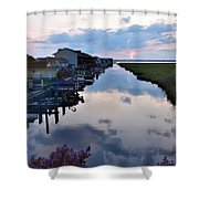 Sunset View At The Art League Of Ocean City - Maryland Shower Curtain