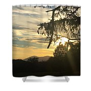 Sunset View From Olana  Shower Curtain