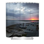 Sunset View From Sandy Neck Light Shower Curtain