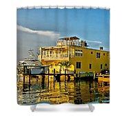 Sunset Villas Hdr Shower Curtain