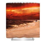 Sunset Walk Shower Curtain