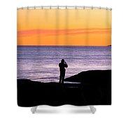 Sunset Watcher Shower Curtain