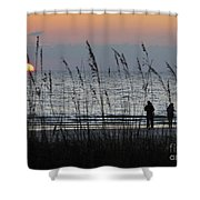 Sunset Watching Shower Curtain