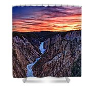 Sunset Waterfall Shower Curtain