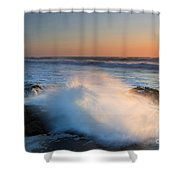 Sunset Wave Explosion Shower Curtain
