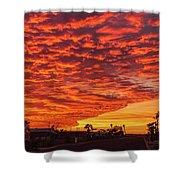 Sunset Wave Shower Curtain