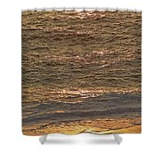 Sunset Waves Over Carmel Beach Shower Curtain