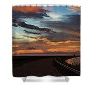 Florida Sunset Winding Road Shower Curtain