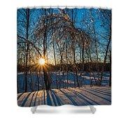 Sunset Winter Shadows Shower Curtain