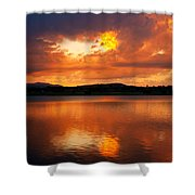 Sunset With A Golden Nugget Shower Curtain