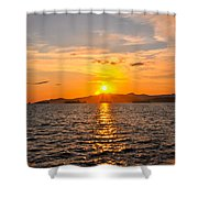 Sunset With Halo Shower Curtain