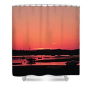 Sunset With Pink Afterglow Shower Curtain