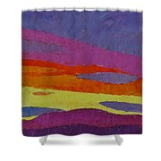Sunset With Purple Clouds Shower Curtain