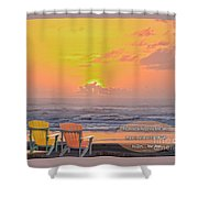 Sunset With Scripture Shower Curtain