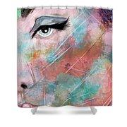 Sunset - Woman Abstract Art Shower Curtain