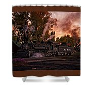 Sunset Work Dogs Shower Curtain
