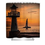 Sunsets And Sailboats Shower Curtain