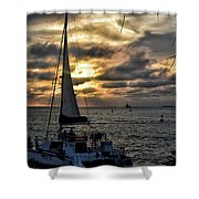 Sunsets And Sails Shower Curtain