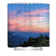 Sunset's Blue Hour Shower Curtain