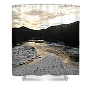 Sunsets On The Pemigewasset Shower Curtain