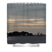 Sunsets On Water Shower Curtain