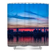 Sunsets Over Philly Shower Curtain