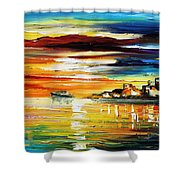 Sunset's Smile Shower Curtain