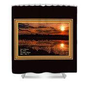 Sunsettia Gloria Catus 1 No. 1 L A. With Decorative Ornate Printed Frame. Shower Curtain