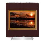 Sunsettia Gloria Catus 1 No. 1 L B. With Decorative Ornate Printed Frame. Shower Curtain
