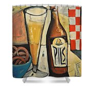 Sunshine And Hops Shower Curtain