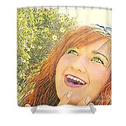 Sunshine And Laughter Shower Curtain