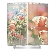 Sunshine And Poppies Shower Curtain