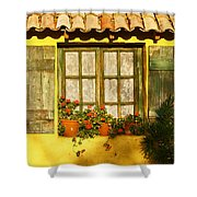 Sunshine And Shutters Shower Curtain