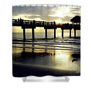 Sunshine At The Pier 60 Shower Curtain