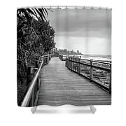 Sunshine Coast Boardwalk  Shower Curtain
