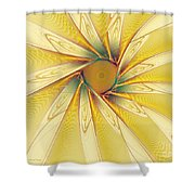 Sunshine Flower Shower Curtain
