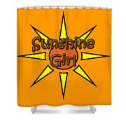 Sunshine Girl Shower Curtain