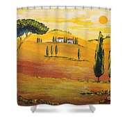 Sunshine In Tuscany In The Morning Shower Curtain