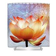 Sunshine Lotus Shower Curtain