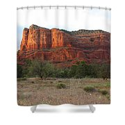 Sunshine On Courthouse Butte Shower Curtain