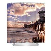 Sunshine Pier Shower Curtain