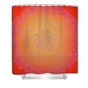 Sunshine Purple Mandala Shower Curtain