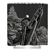 Sunshine Silver Mine Memorial - Kellogg Idaho Shower Curtain