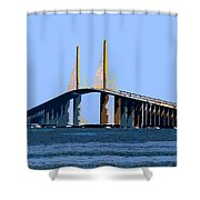 Sunshine Skyway Summer Shower Curtain