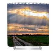 Sunshine Through The Clouds Shower Curtain