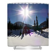 Sunstar Throws Long Shadows Shower Curtain