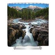 Sunwapta Falls In Jasper National Park Shower Curtain