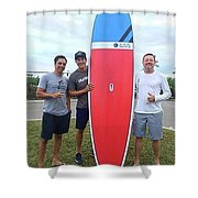Sup Surfboards Shower Curtain