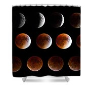 Super Blood Moon Eclipse Shower Curtain