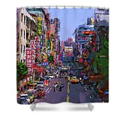 Super Colorful City Shower Curtain